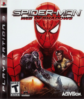 Spider-Man: Web of Shadows PS3 coverM (BLUS30218)