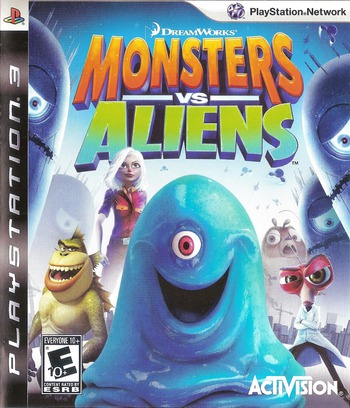 Dreamworks' Monsters vs. Aliens PS3 coverM (BLUS30273)