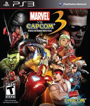 Marvel vs. Capcom 3 : Fate of Two Worlds PS3 coverM (BLUS30410)