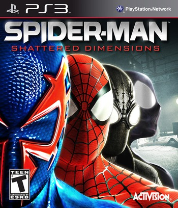 Spider-Man: Shattered Dimensions PS3 coverM (BLUS30499)