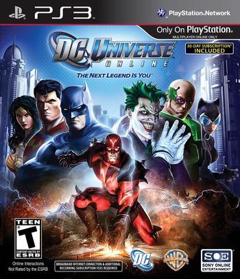 DC Universe Online PS3 coverM (BLUS30583)