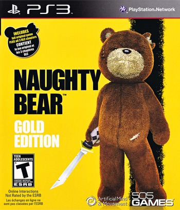 Naughty Bear Gold Edition PS3 coverM (BLUS30700)