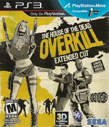 The House of the Dead: Overkill Extended Cut PS3 coverM (BLUS30774)