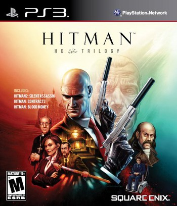 Hitman HD Trilogy PS3 coverM (BLUS30942)