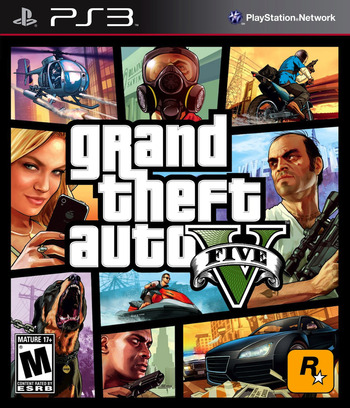 Grand Theft Auto V PS3 coverM (BLUS31156)