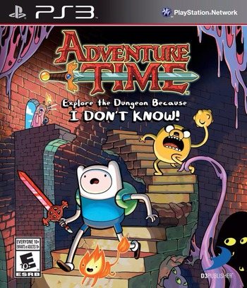 Adventure Time: Explore the Dungeon Because I DON'T KNOW! PS3 coverM (BLUS31214)