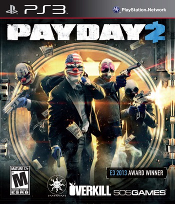 Payday 2 PS3 coverM (BLUS31219)