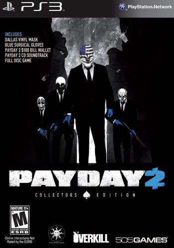 Payday 2 (Collector's Edition) PS3 coverM (BLUS31343)