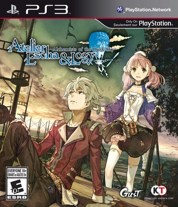 Atelier Escha and Logy: Alchemists of the Dusk Sky PS3 coverM (BLUS31391)