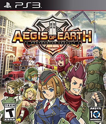 Aegis of Earth: Protonovus Assault PS3 coverM (BLUS31587)