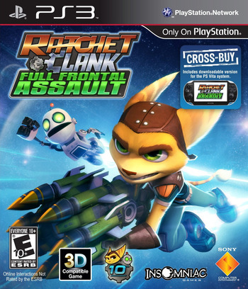 Ratchet and Clank: Full Frontal Assault PS3 coverM (XCUS00001)