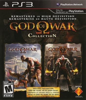 God of War Collection PS3 coverM2 (BCUS98229)