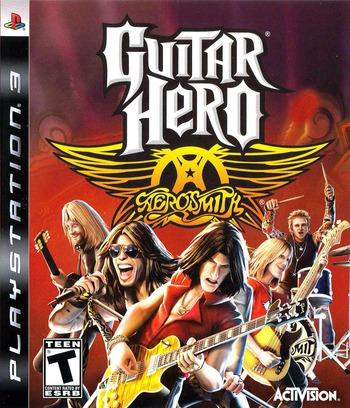 Guitar Hero: Aerosmith PS3 coverM2 (BLUS30133)