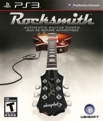 Rocksmith Authentic Guitar Games PS3 coverM2 (BLUS30670)
