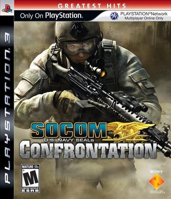 SOCOM: U.S. Navy SEALs - Confrontation PS3 coverMB (BCUS98152)