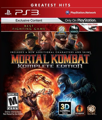 Mortal Kombat Komplete Edition PS3 coverMB (BLUS30902)