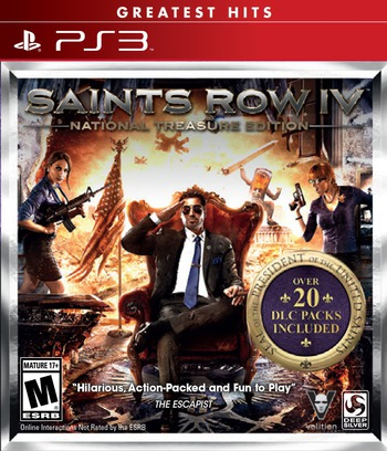 Saints Row IV PS3 coverMB (BLUS31205)