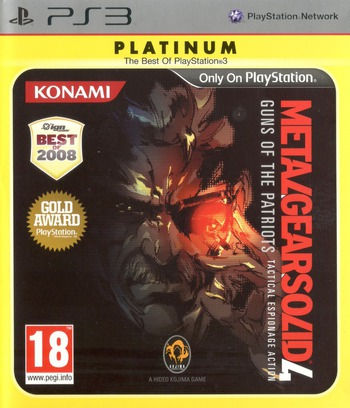 Metal Gear Solid 4: Guns of the Patriots PS3 coverMB2 (BLES00246)