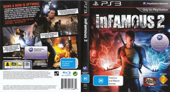 inFamous 2 PS3 cover (BCES01143)