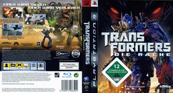 Transformers: Die Rache PS3 cover (BLES00577)