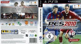 Pro Evolution Soccer 2010 PS3 cover (BLES00689)