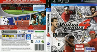 Virtua Tennis 4 PS3 cover (BLES00912)