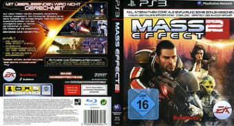 Mass Effect 2 PS3 cover (BLES01133)