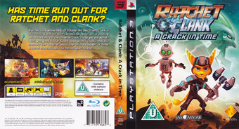 Ratchet & Clank: A Crack in Time PS3 cover (BCES00726)