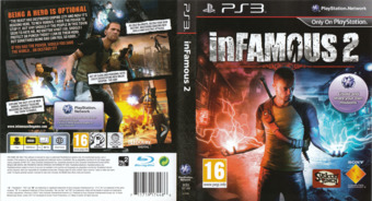 inFamous 2 PS3 cover (BCES01144)
