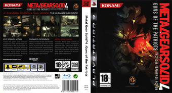 Metal Gear Solid 4: Guns of the Patriots PS3 cover (BLES00246)