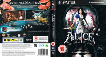 Alice: Madness Returns PS3 cover (BLES01265)