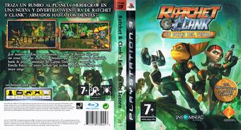Ratchet & Clank: En busca del tesoro PS3 cover (BCES00301)