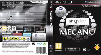 SingStar Mecano PS3 cover (BCES00583)