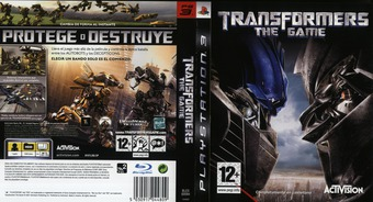 Transformers: The Game PS3 cover (BLES00094)