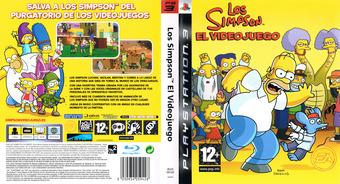 Los Simpsons: El Videojuego PS3 cover (BLES00142)
