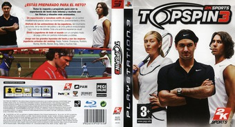 Top Spin 3 PS3 cover (BLES00276)
