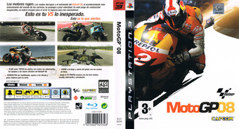 MotoGP 08 PS3 cover (BLES00396)