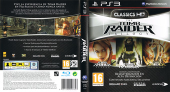 The Tomb Raider Trilogy PS3 cover (BLES01195)