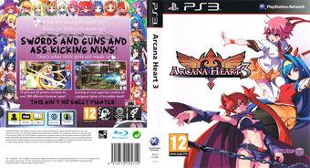 Arcana Heart 3 PS3 cover (BLES01295)