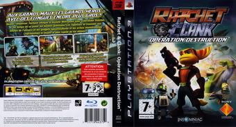 Ratchet et Clank: Opération destruction pochette PS3 (BCES00052)
