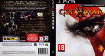 God of War III pochette PS3 (BCES00510)