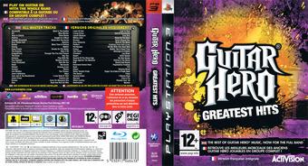 Guitar Hero: Greatest Hits pochette PS3 (BLES00549)