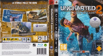 Uncharted 2: Il covo dei ladri PS3 cover (BCES00509)