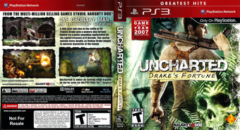 Uncharted: Drake's Fortune (Greatest Hits) PS3 cover (BCUS90640)