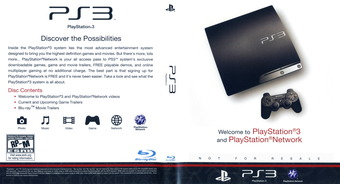 Welcome to PlayStation Network and PlayStation 3 Slim PS3 cover (BCUS98213)