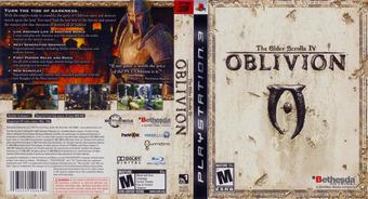 The Elder Scrolls IV: Oblivion PS3 cover (BLUS30007)