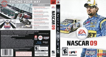 NASCAR '09 PS3 cover (BLUS30139)