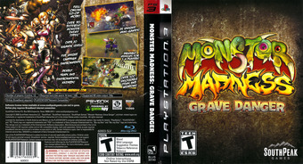 Monster Madness: Grave Danger PS3 cover (BLUS30140)