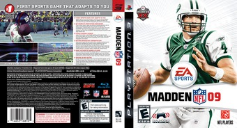 Madden NFL '09 PS3 cover (BLUS30146)