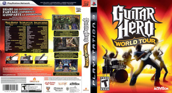 Guitar Hero: World Tour PS3 cover (BLUS30164)